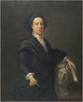 Retrato de William Kent realizado por William Aikman en 1731